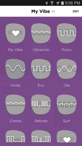Escoger de entre los 10 estimulantes patrones predefinidos vibratorios de auténtica delicia.